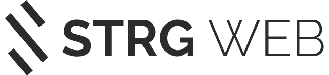 Strg Web Logo horizontal schwarz