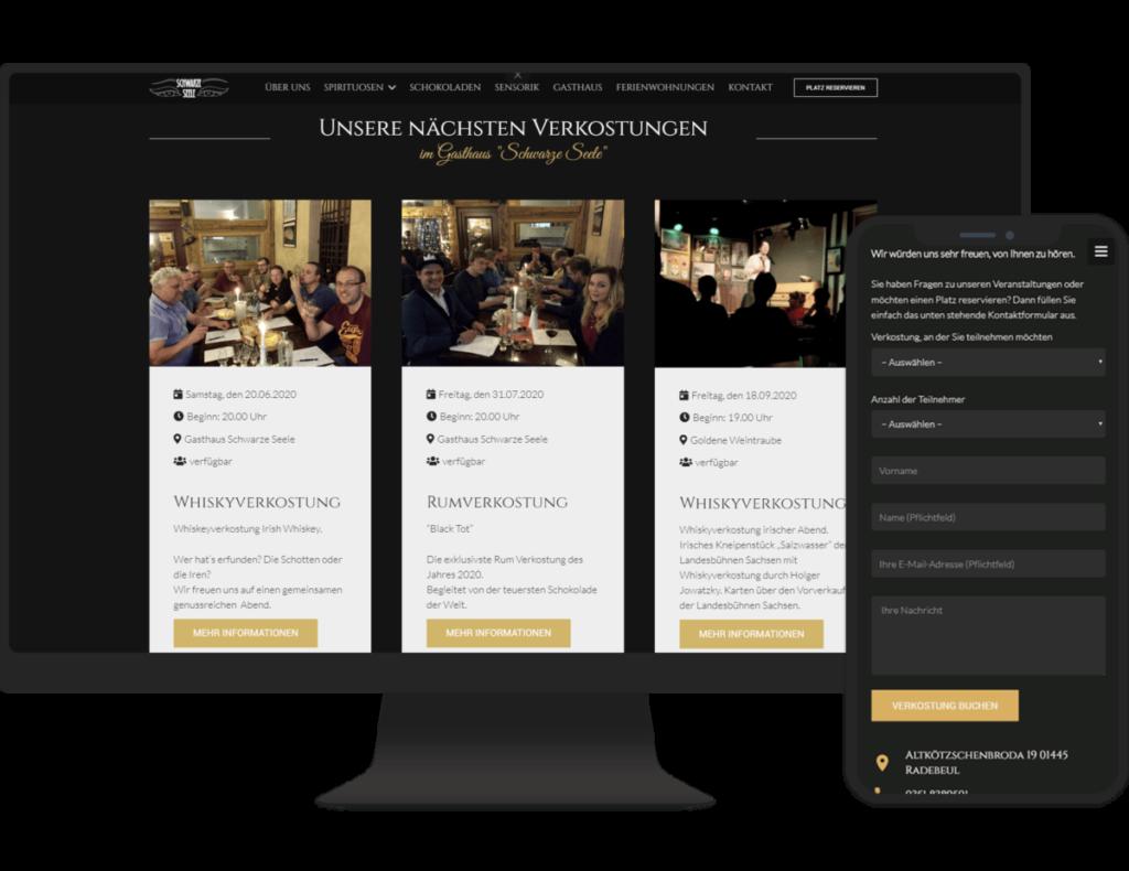 Referenz Whiskyverkostungen Dresden PC und Smartphone