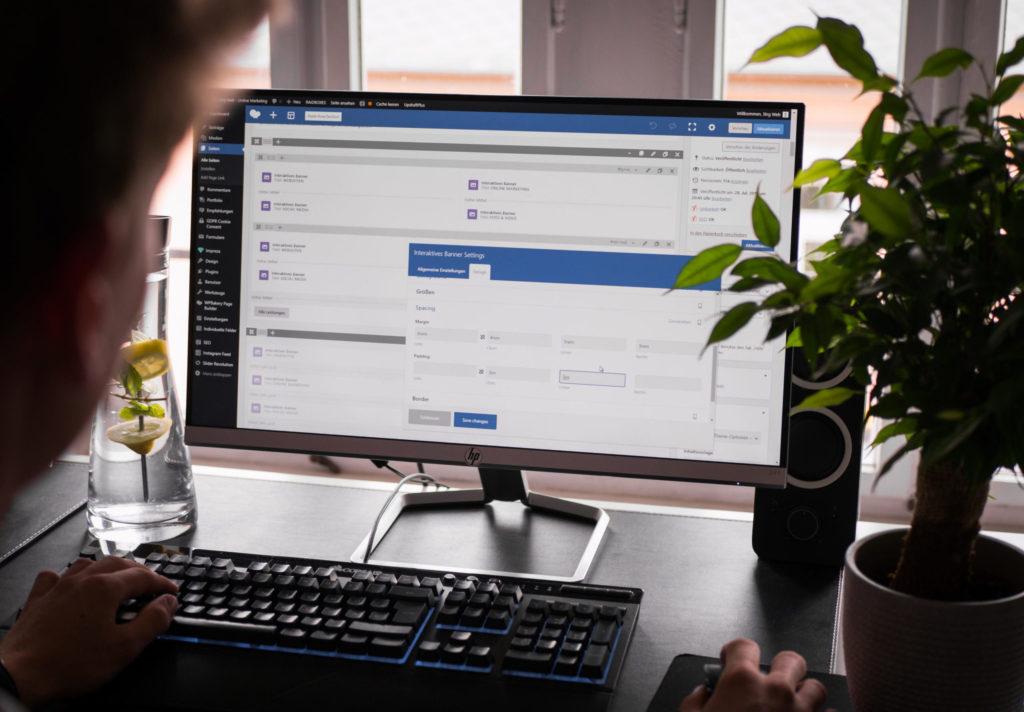Arbeit am PC mit WordPress Strg Web Radebeul Webdesign