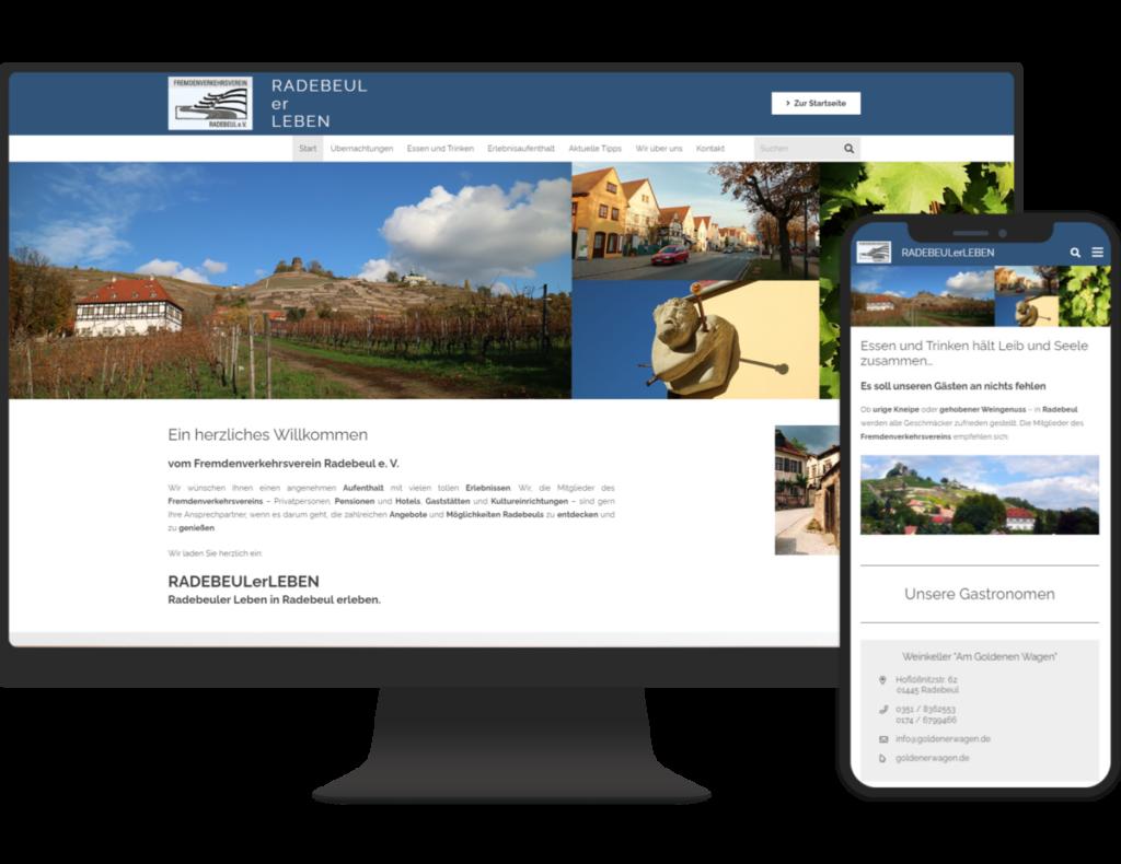 Fremdenverkehrsverein_Radebeul_Referenz - Internetseiten für Dresden und Umgebung von Internetagentur Strg Web